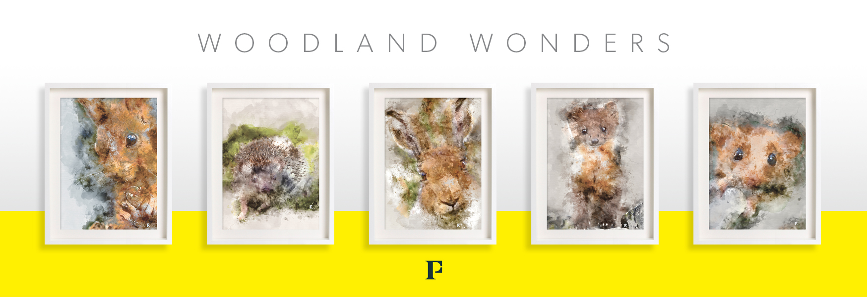 woodland wonder series - watercolour prints